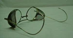 Old Welsh Safety Glasses Sideshields glass Lenses Original Condition 50x24 170mm