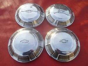 Vintage 1968 70 Chevy Impala Belair 427 Dog Dish Poverty Hubcaps Wheel Covers
