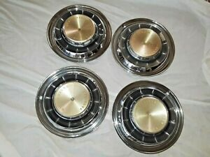 1961 Chrysler New Yorker Hub Caps 14 Stainless Set Of 4 H121