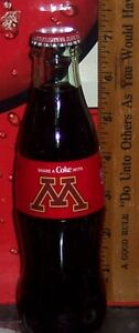 2020 COCA - COLA SHARE A COKE WITH UNIVERSITY OF MINNESOTA 8OZ COCA COLA BOTTLE