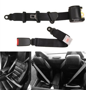 Car Suv Truck 3 Point Seat Belts Lap Diagonal Belt Black Adjustable Universal