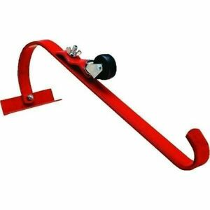 Qualcraft 2481 Steel Ladder Jack Hook W Roller Roofing Protection single