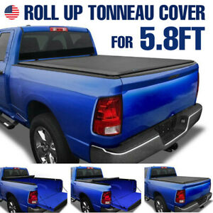 5 8ft Short Bed Roll Up Tonneau Cover For 2007 2019 Chevy Silverado Gmc Sierra