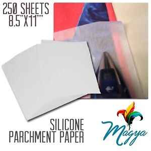 Silicone Parchment Paper For Heat Transfer Applications 250 Sheets 8 5 x11 Usa