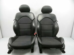 03 Bmw M3 E46 1119 Seat Pair Front Power Heated Sport Black Cloth Impuls