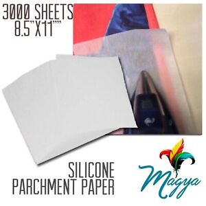 Silicone Parchment Paper For Heat Transfer Applications 3000 Sheets 8 5 x11 Usa