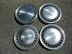Factory Original 1988 Lincoln Town Car 15 Inch Hubcaps Wheel Covers