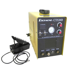 3 in 1 Ct520d 200a Tig Stick Welder 50a Plasma Cutter 110v 240v With Foot Pedal
