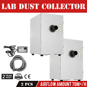 2x Single row Dust Collector Vacuum Cleaner 370w Dental Lab Suction Extraction