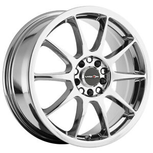 4 vision 425 Bane 17x7 5x100 5x4 5 38mm Chrome Wheels Rims 17 Inch