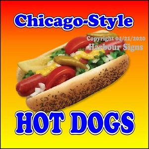 Chicago Style Hot Dog Decal choose Your Size Concession Food Truck Sticker
