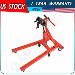 2000 Lb Engine Stand Folding Motor Hoist Rebuild Dolly Mover Auto Repair Jack