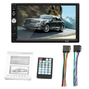 Bluetooth 2din 7inch Touch Screen Car Stereo Mp5 Player Am Fm Radio Camera