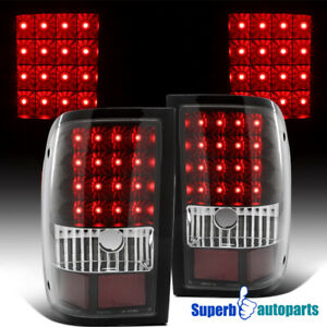 For 2006 2011 Ford Ranger Black Rear Led Tail Lights Brake Lamps