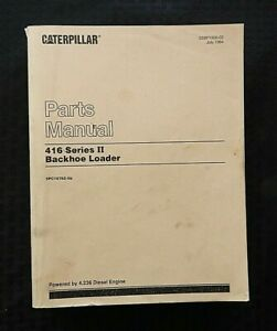 Caterpillar 416 Series Ii Tractor Loader Backhoe Parts Manual Catalog Serial 5pc
