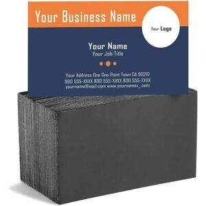 Self Adhesive Business Card Magnets With White Cards Peel And Stick 100 Pack