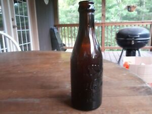 Early 1900s Amber Straight Sided Coca Cola Logan WV Bottle