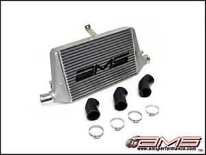 Ams Fmic Front Mount Intercooler With Logo For 2003 07 Mitsubishi Evo 8 9