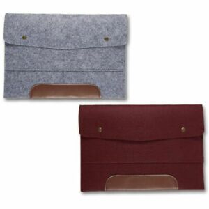 2 Pack Wool Felt File Folder 13 Inch Laptop Holder A4 Document Paper Portfolio