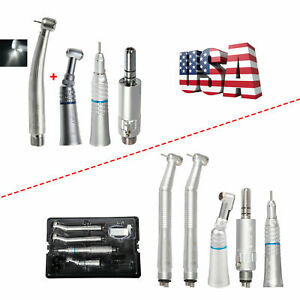 Nsk Style Dental led High Fast Turbine low Speed Handpiece Kit 4 2 Holes Usps