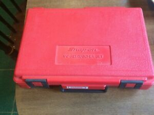 Snap On Pb86 Red Plastic Hard Case Only 1 4 Drive Air Ratchet Case Clean Used