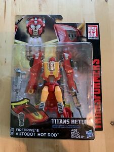 Transformers Titans Return Deluxe Class Autobot Firedrive & Hot Rod NEW $34.99