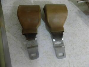 70 Torino Bench Bucket Seat Belt Retractor Gold Pair Cobra Cyclone Ranchero 1971