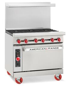 American Range Ar 6c 36 6 Burner Gas Range W Convection Oven New Clearance