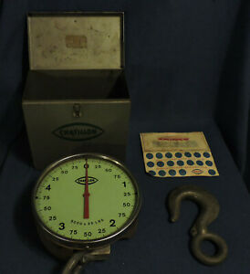 Chatillon Wt 10 Dynamometer Weighing Tensiometer Scale 5000 Lbs X 25