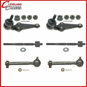 Front 2 Lower Ball Joints 4 Tie Rod Ends Toyota Supra 86 92