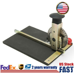 Manual Stamping Embossing Machine Rotatable Steel Dial Embosser Device Dog Tag