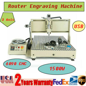 1500w 3axis 6090 Cnc Router Engraving Kit Woodwork Advertising Milling Machine