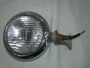 Vintage Mopar Fog Light With Bracket 5 5 Diameter Corcoran Brown Chr439