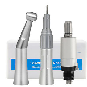 Dental Low Speed Straight Handpiece Contra Angle Straight Dental Air Motor 4hole