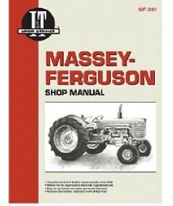 I t Shop Manual Collection Massey Ferguson 65 85 88 90 1080 1100 1135 1150 1155