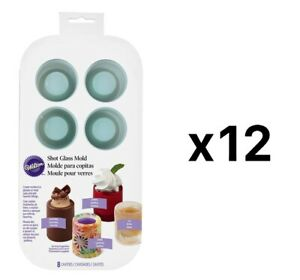 Wilton Round Silicone Edible Shot Glass Ice Treat Mold 8-Cavity (12-Pack) $106.65