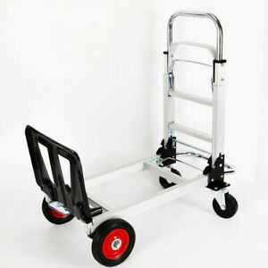 2 In 1 Folding Hand Truck Dolly Transport Platform Cart For Home
