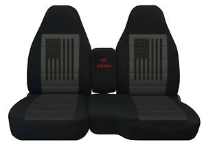 Customized Ford Ranger Seat Covers Fits 1998 To 2003 American Flag Design