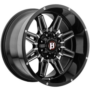 5 ballistic 965 Catapult 20x10 5x5 5x5 5 Black milled Wheels Rims 20 Inch Jk Jl
