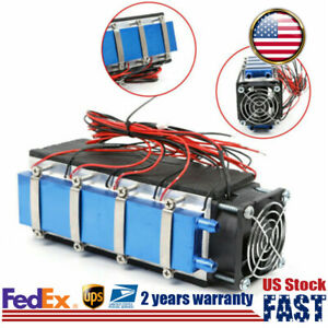576w Diy Thermoelectric Peltier Cooler Water Cooling Device 8 chip Tec1 12706a