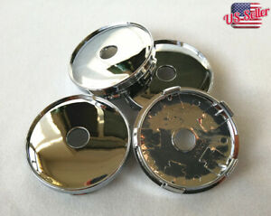4pcs 60mm Universal Chrome Car Van Wheel Center Hub Cap Cover Plastic Tyre Trims