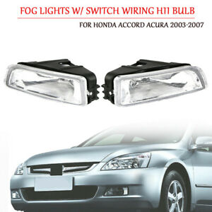 2x Fog Light W Switch Wiring H11 Bulb Kit For Honda Accord Acura 2003 2007