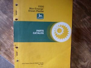 John Deere 7000 Max emerge Drawn Planter Parts Catalog Manual Original Pc 1467