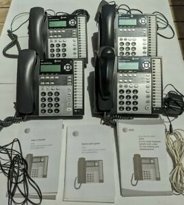 At t Lot 4 Phones Small Business System Model 1070 1040 4 Lines Speakerphone