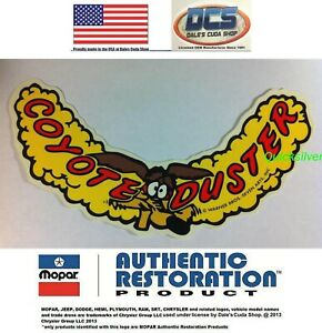 1970 Plymouth Road Runner Coyote Duster Air Cleaner Decal New Mopar Usa Licensed