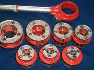 Ridgid 111 r Pipe Threader Set 1 8 1 1 4 Npt With Ratchet New Threading Dies