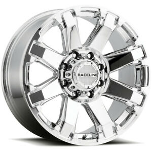 4 17 Inch Raceline 936c Throttle 17x9 8x165 1 8x6 5 0mm Chrome Wheels Rims