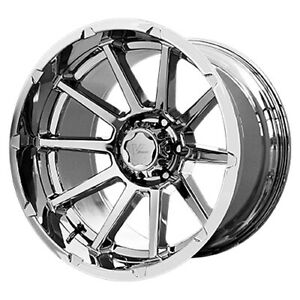 4 New 20 Inch V Rock Vr13 Tactical 20x10 6x135 24mm Chrome Wheels Rims