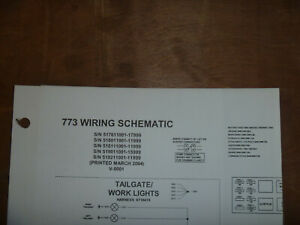 Bobcat 773 Skid Steer Electrical Wiring Diagram Schematic Manual 517611001 17999