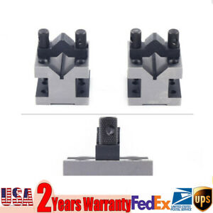 2pcs Workholding Precision Matched Pair V block Clamp Tool For Clamping 5 35mm
